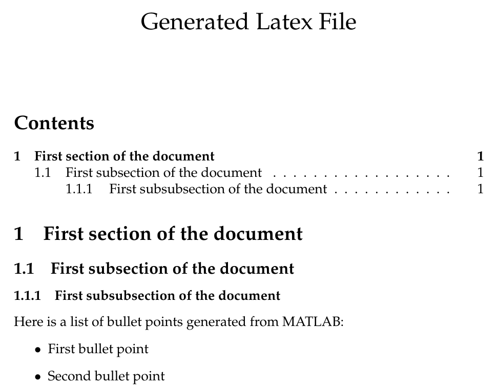 Latex Files From MATLAB in 5 Minutes: Generate Your Template