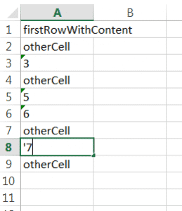 Use numbers as string for the Excel file extract