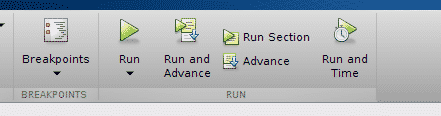 Run button for a MATLAB script